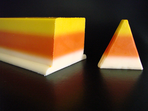 Candy corn soap tutorial