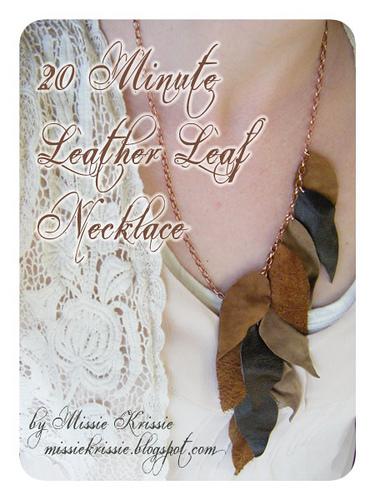 leather leaf statement necklace tutorial