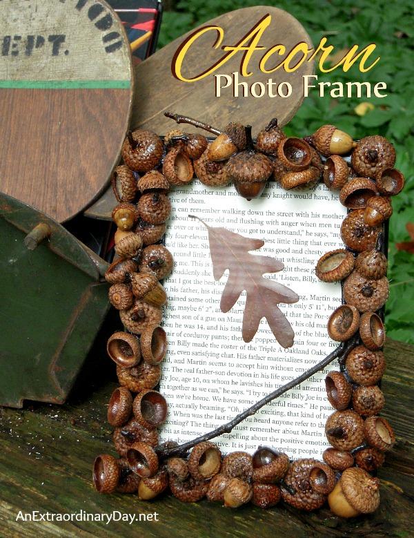 acorn cap picture frame tutorial