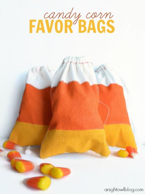 Candy corn favor bags tutorial