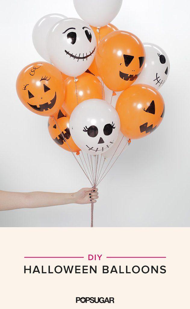 balloon pumpkin ghost skeleton halloween