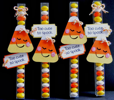 Candy corn themed candy favor tutorial