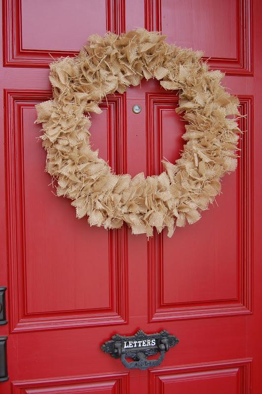 Easy burlap fall wreath tutorial