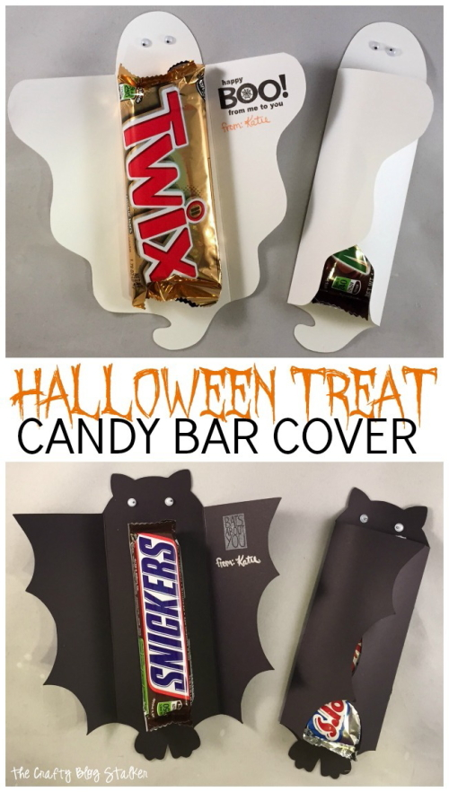 ghost bat candy bar wraps
