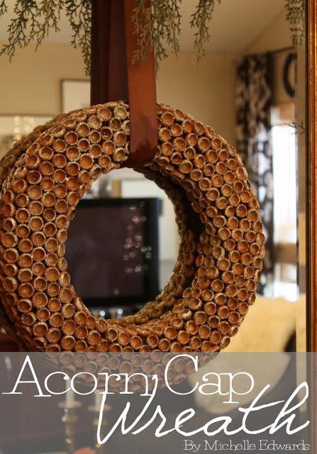 acorn cap wreath tutorial