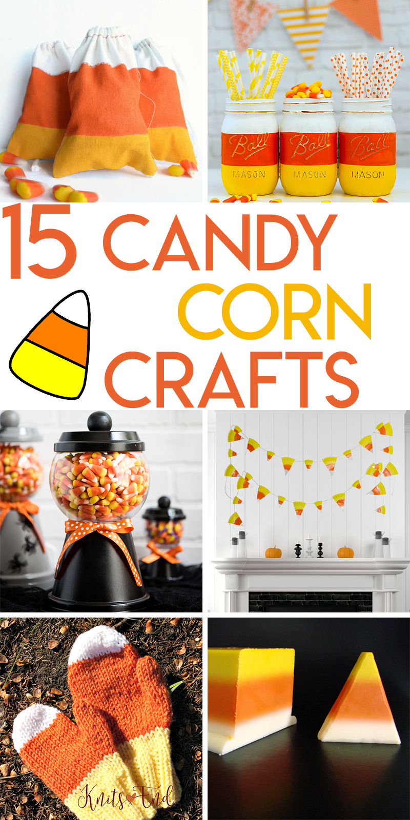 15 Clever Candy Corn Themed Crafts