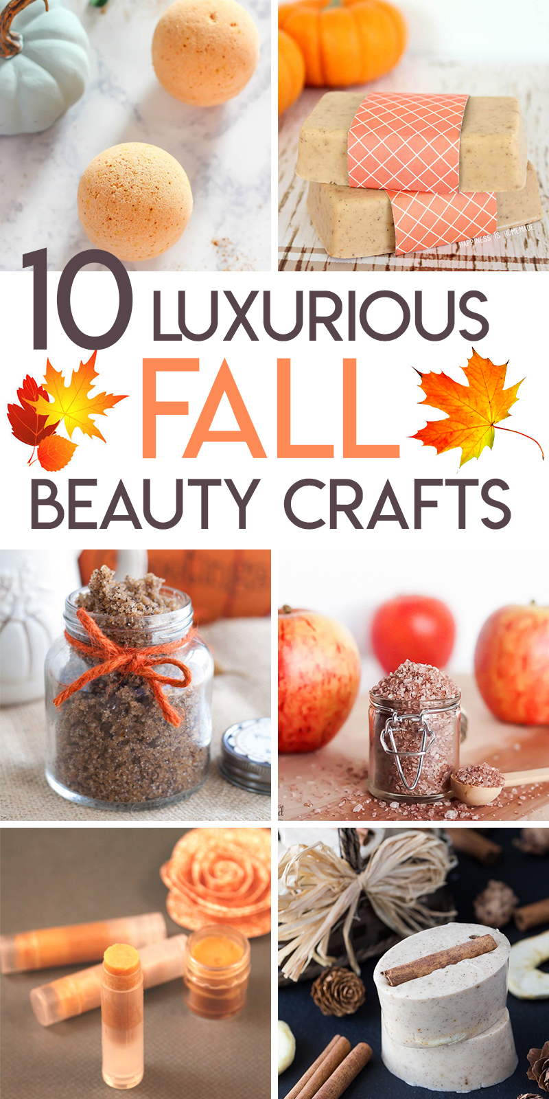 10 fall themed bath and beauty diy projects