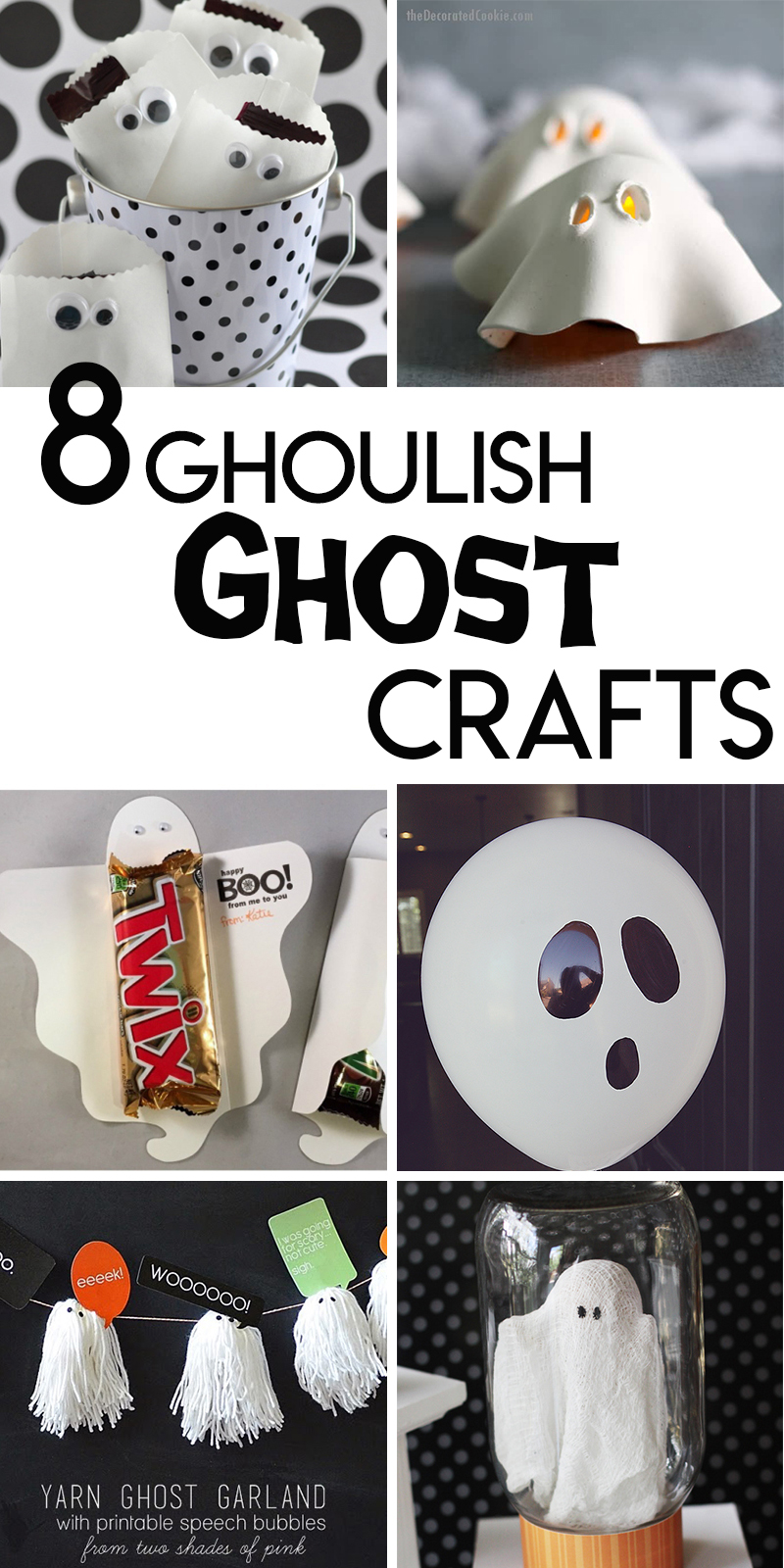 ghost themed halloween crafts