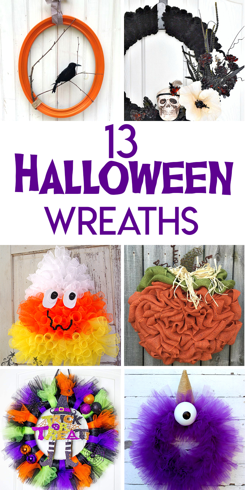 13 Halloween Wreath Tutorials