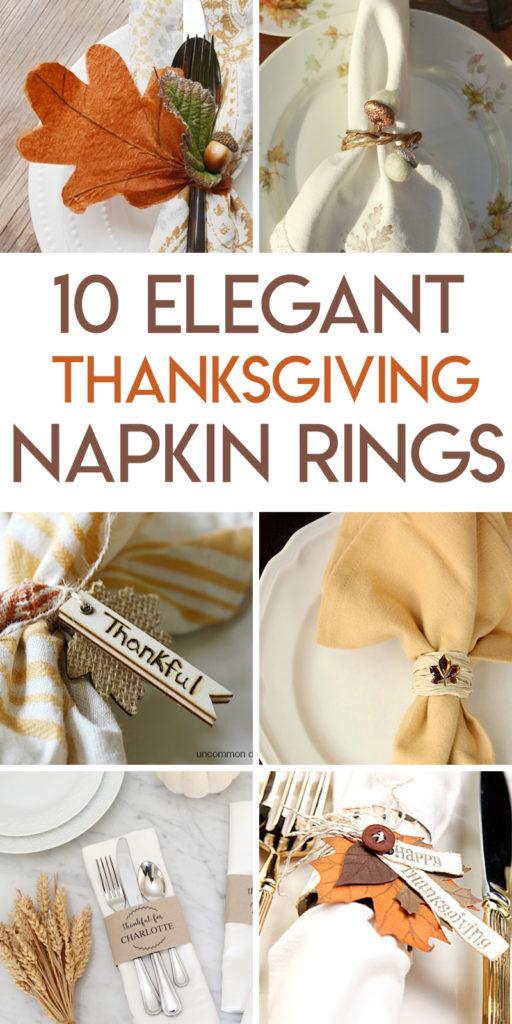 10 thanksgiving napkin ring tutorials