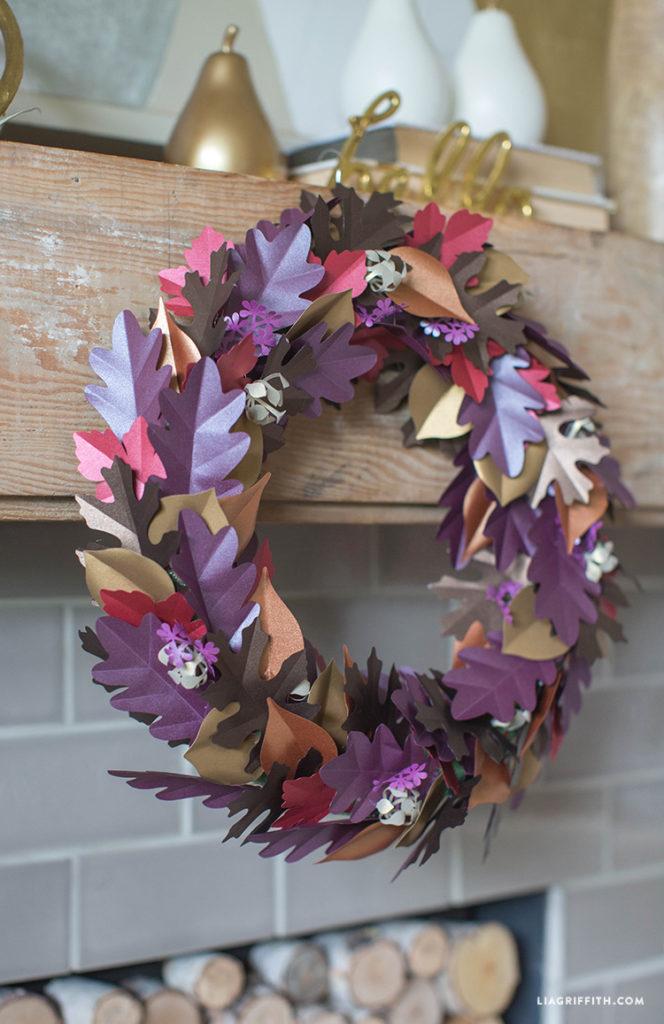 paper autumn wreath tutorial