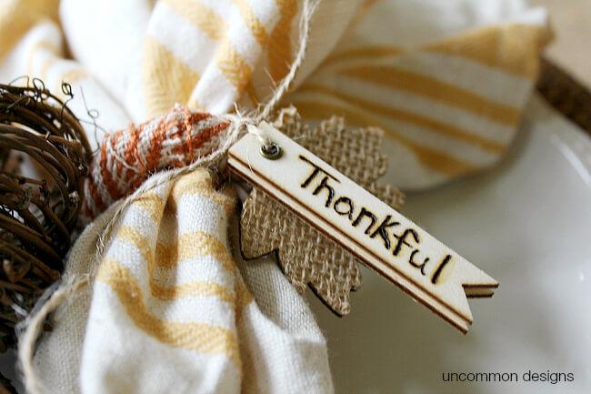 Thankful wood burned fall napkin rings tutorial
