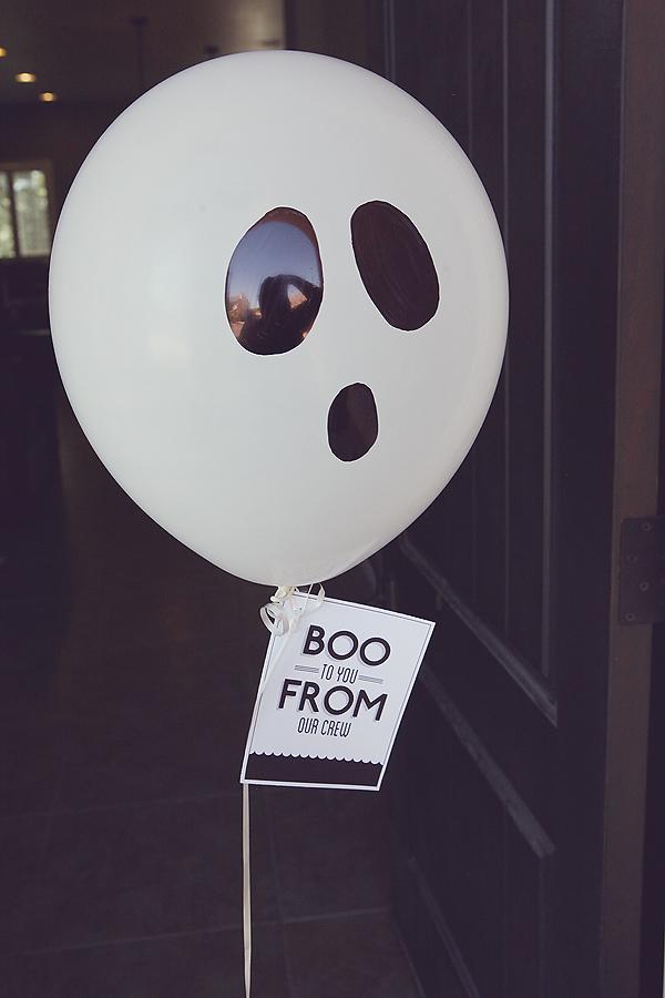 Ghost balloon Boo tutorial