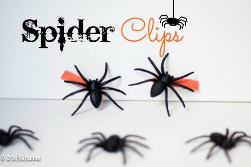 Easy spider hair clips