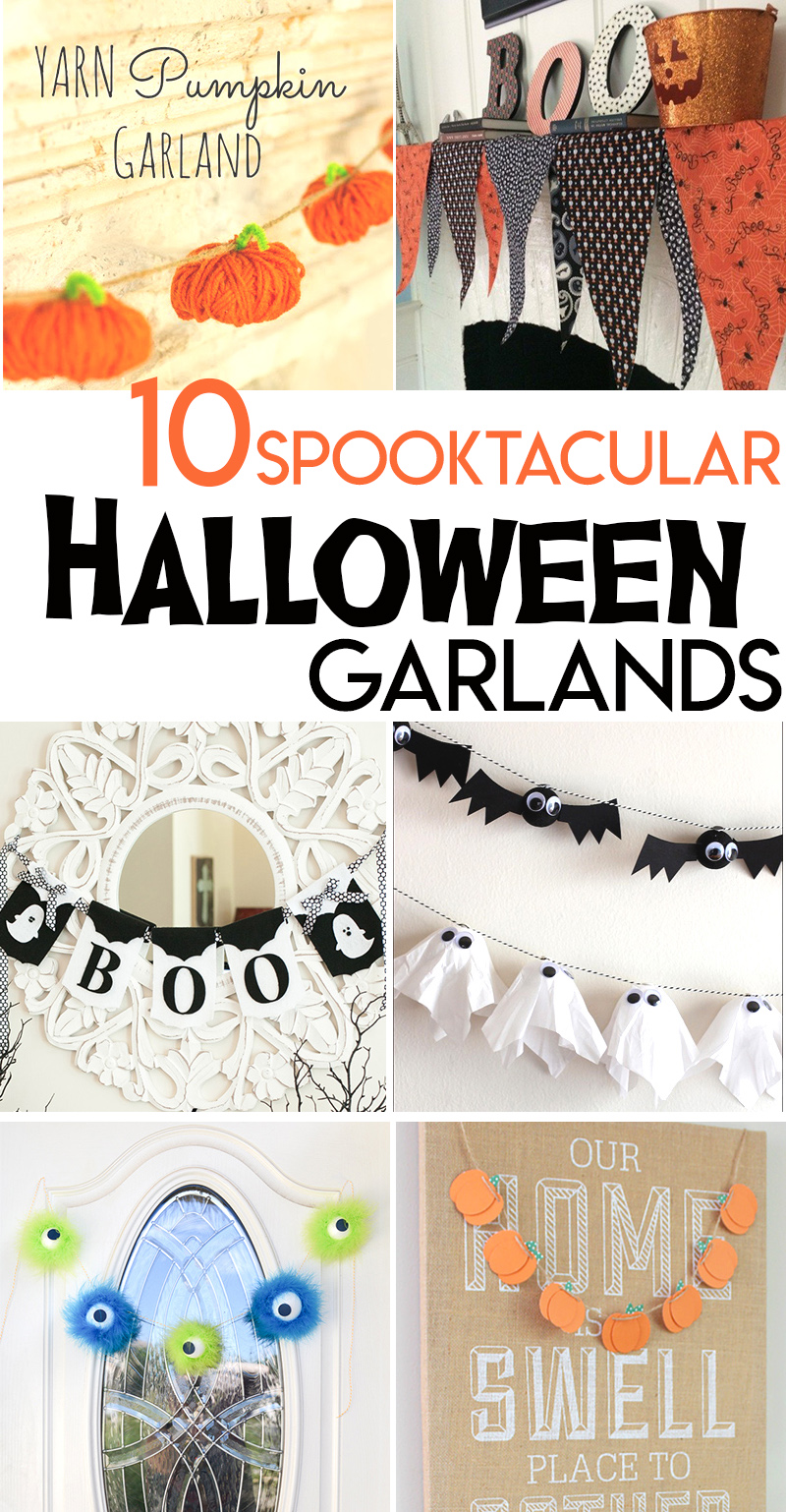 halloween garlands bunting ghost pumpkin spider