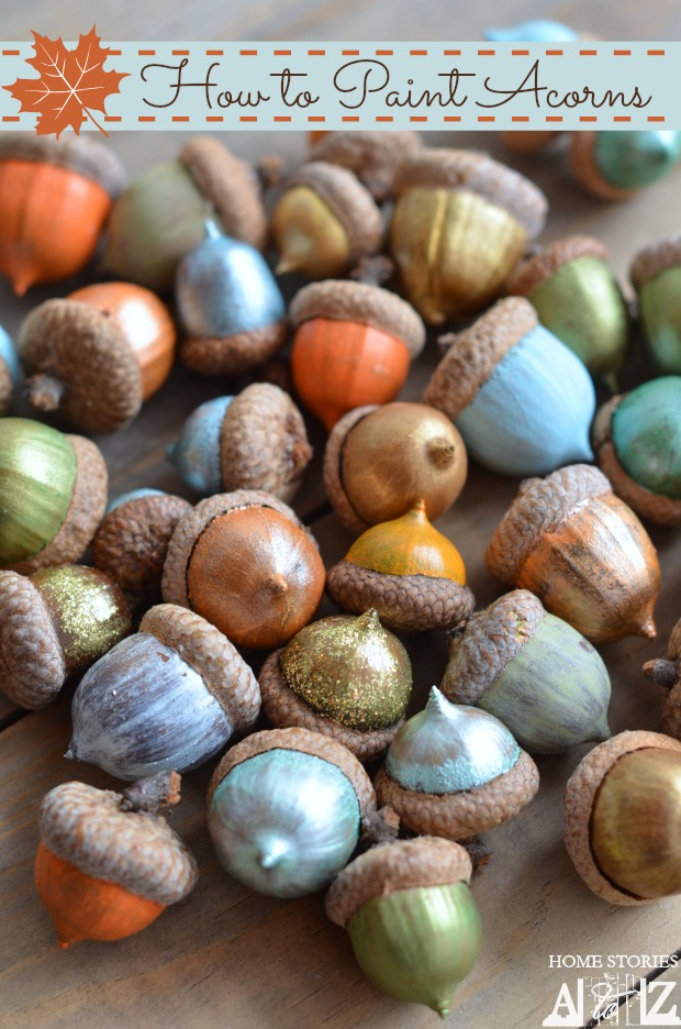 painted acorns tutorial