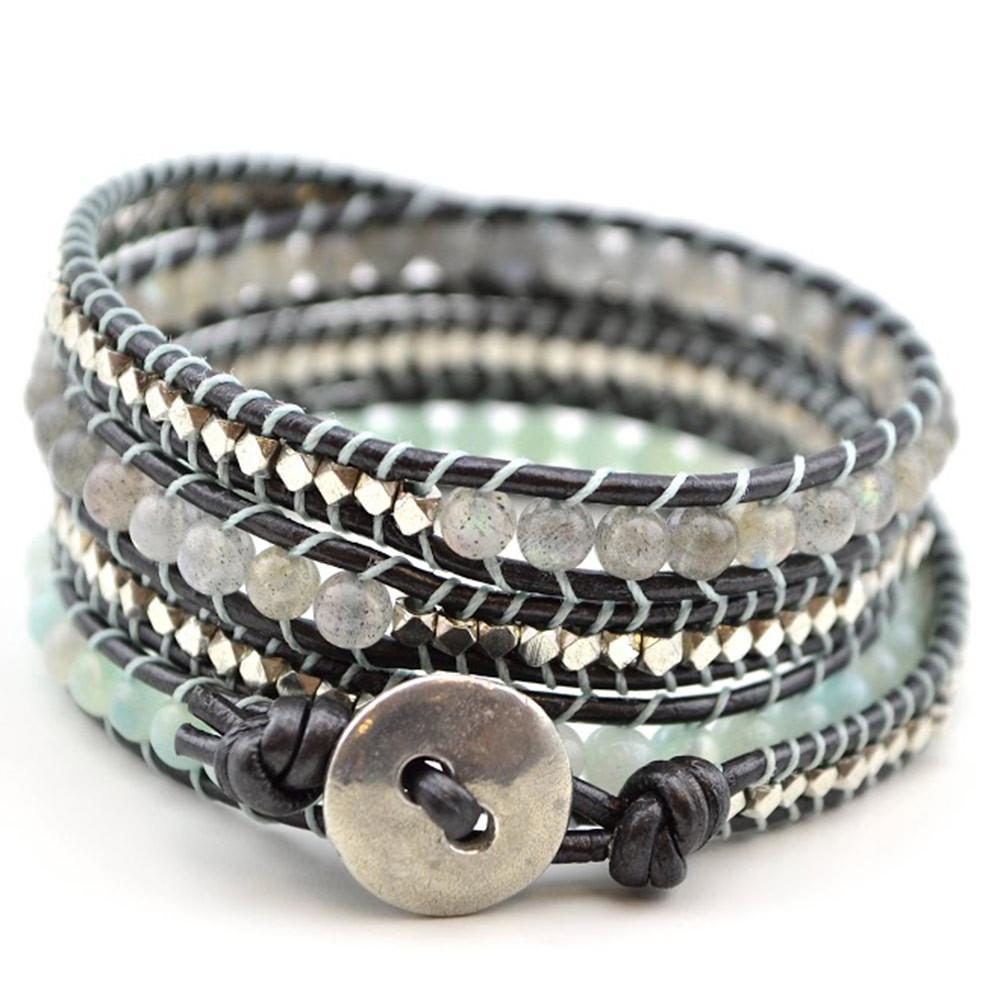 leather wrap beaded bracelet tutorial