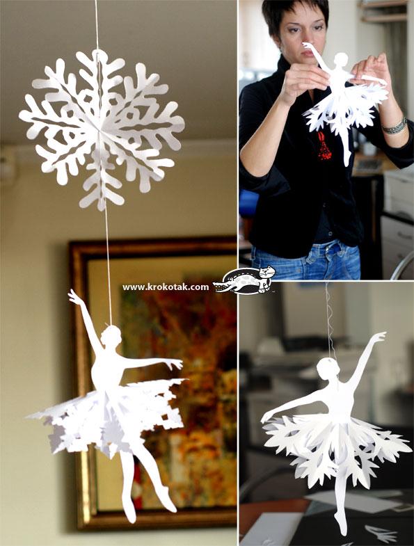 paper snowflake ballerina cutout tutorial