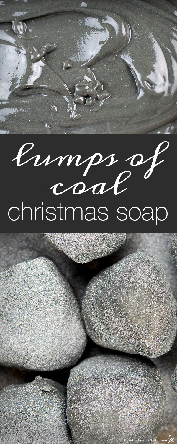 christmas lump of coal soap tutorials=