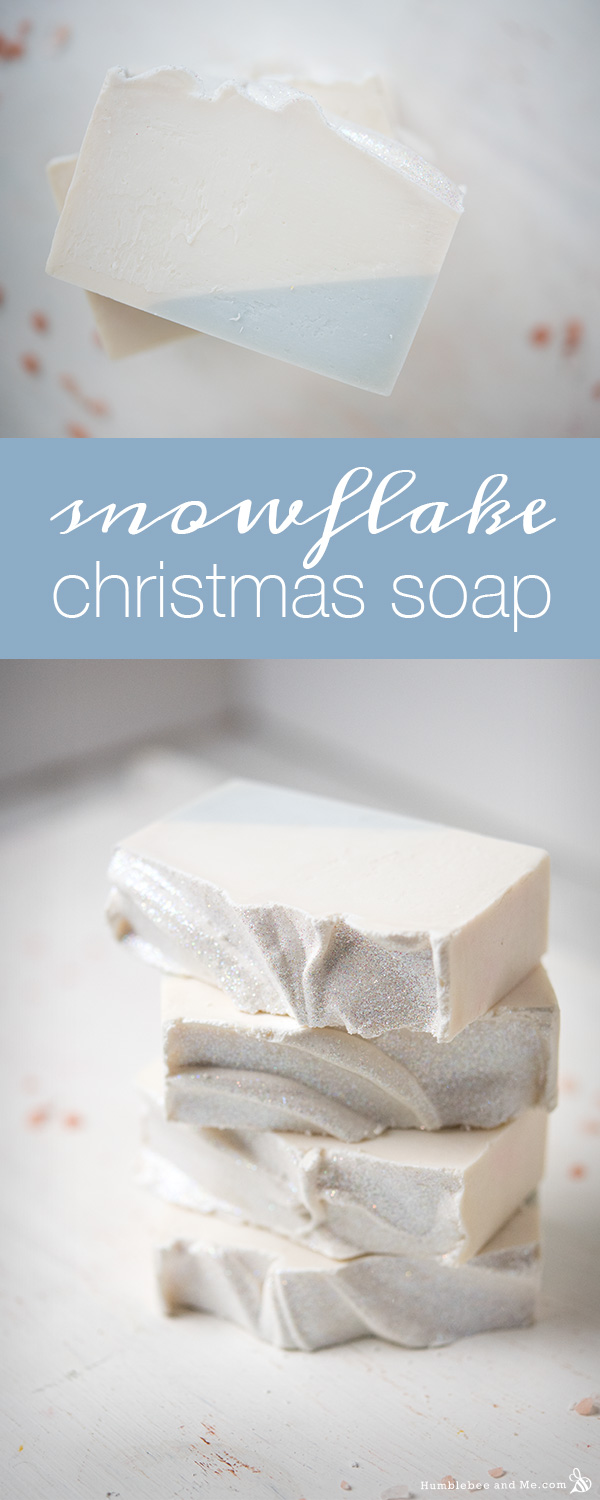 snowflake Christmas soap tutorial
