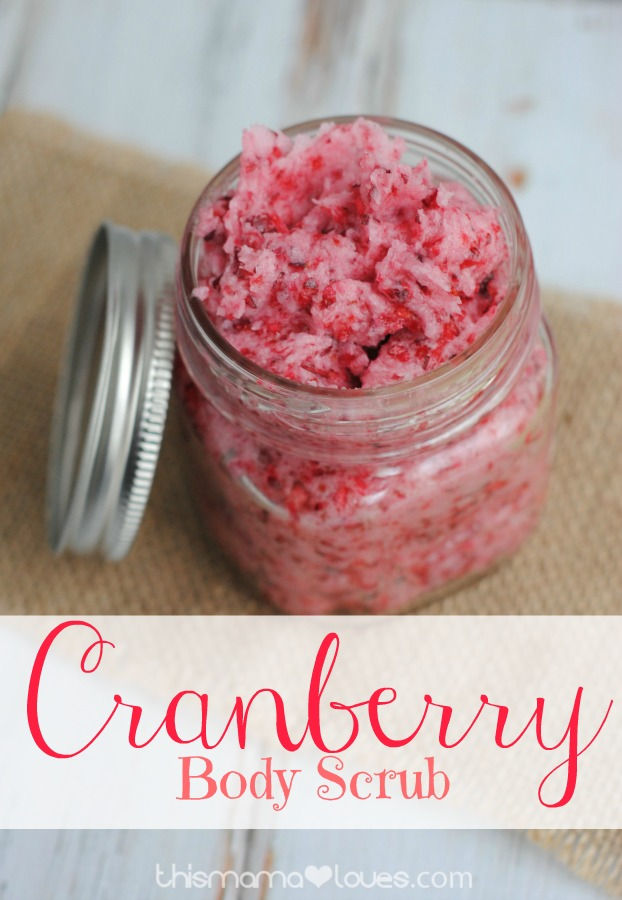 cranberry Christmas body scrub recipe