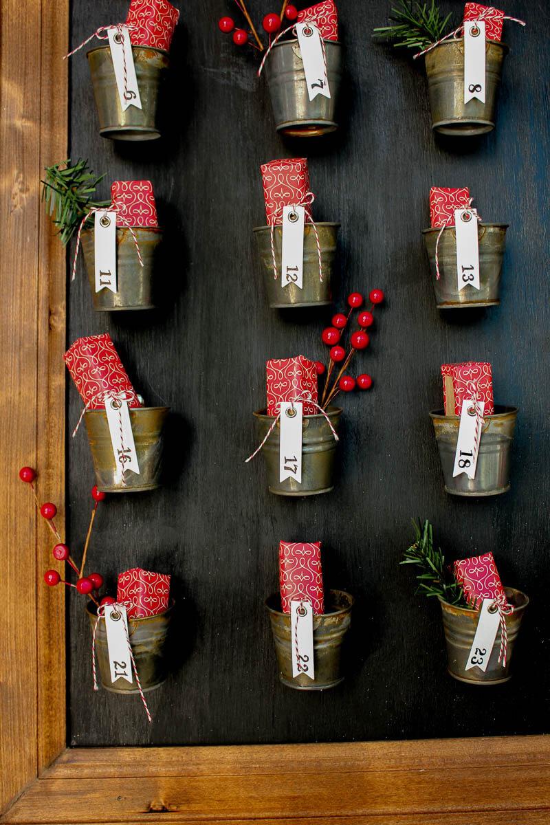pottery barn style DIY advent calendar tutorial
