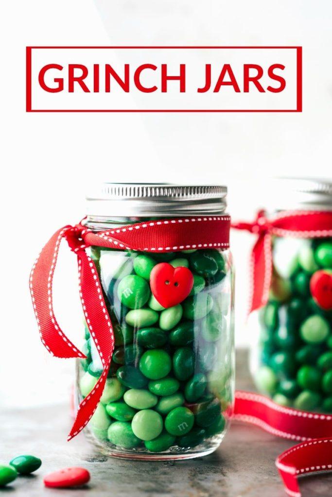 grinch themed candy jar tutorial