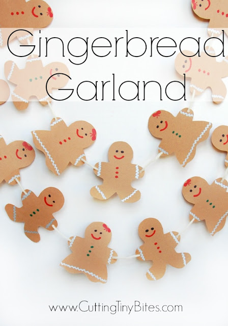 paper gingerbread man garland tutorial