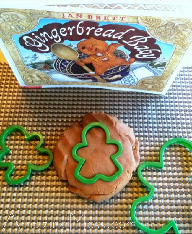 gingerbread play dough tutorial
