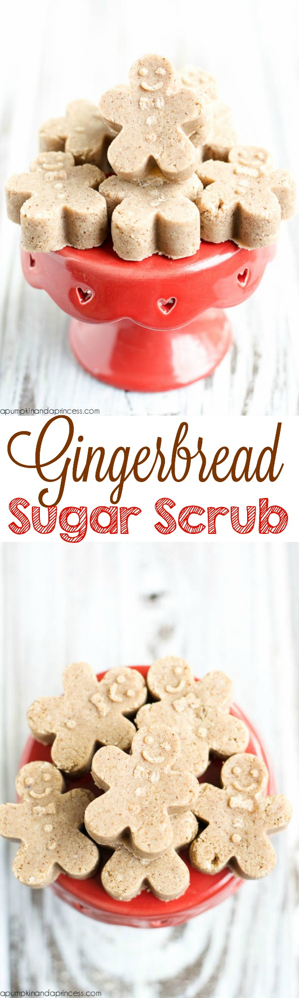 Gingerbread man sugar scrub tutorial