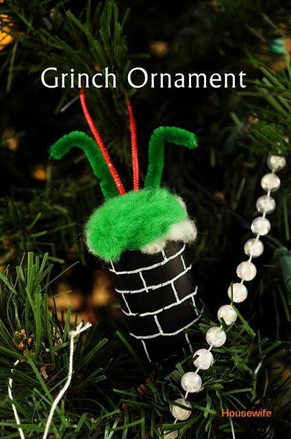 Grinch Christmas ornament tutorial