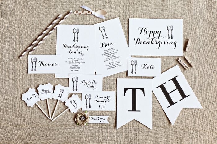 Free Thanksgiving printables set