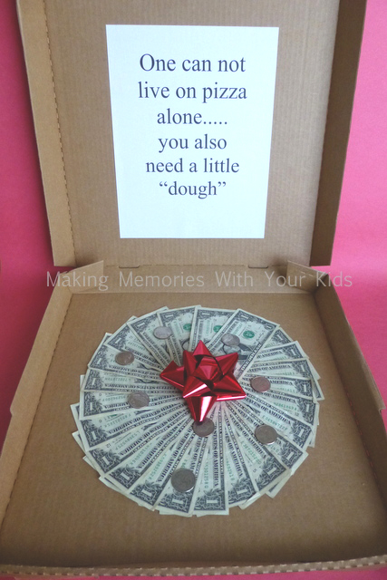 Great way to give cash as a present to a college kid