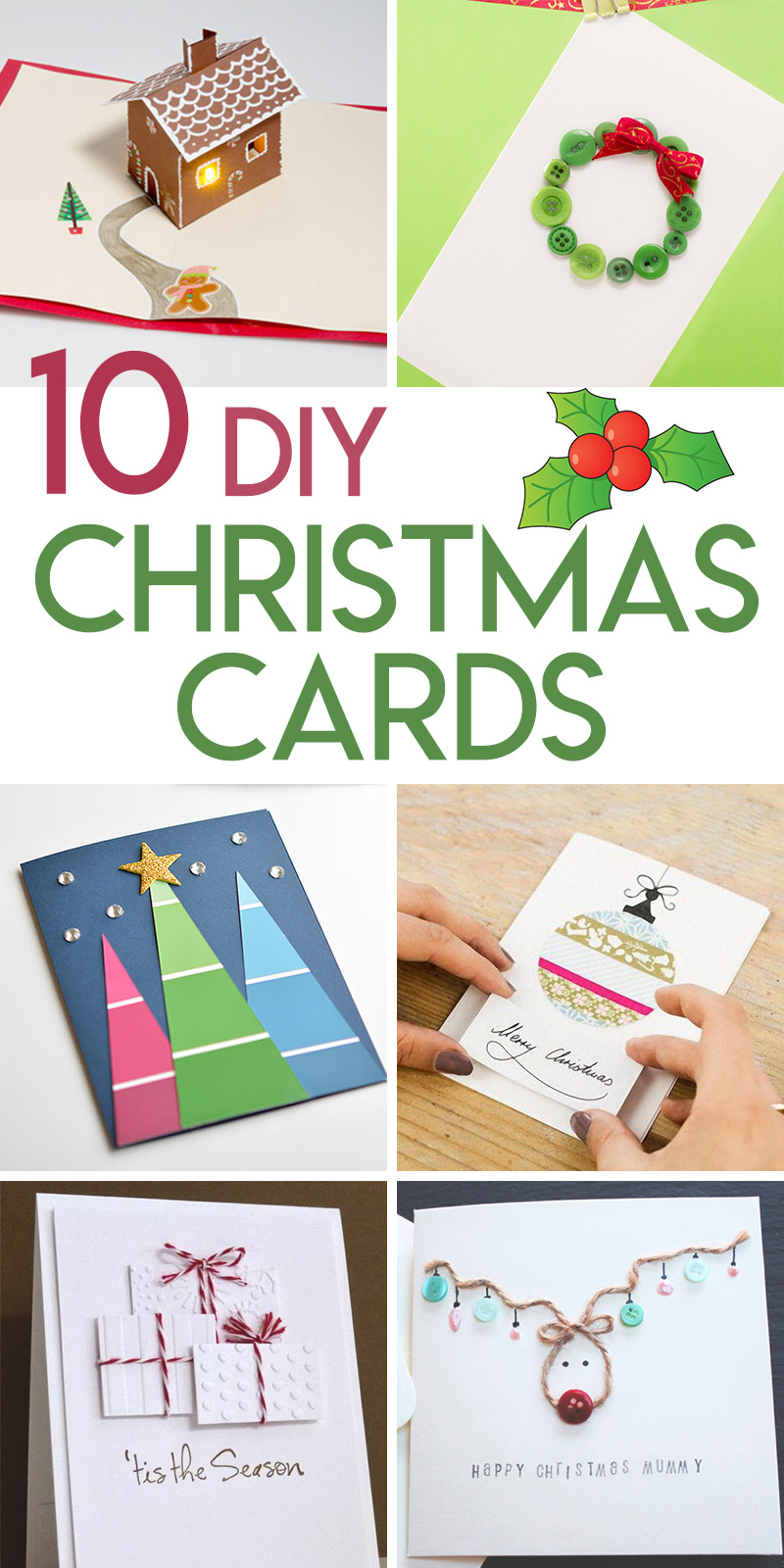 10 DIY Christmas Card Tutorials