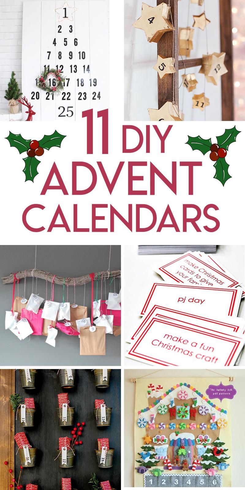 11 DIY advent calendar tutorials for Christmas