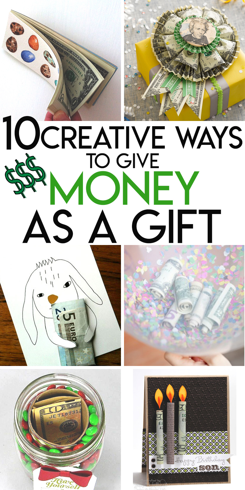 10 creative ways to package up and give cash as a gift