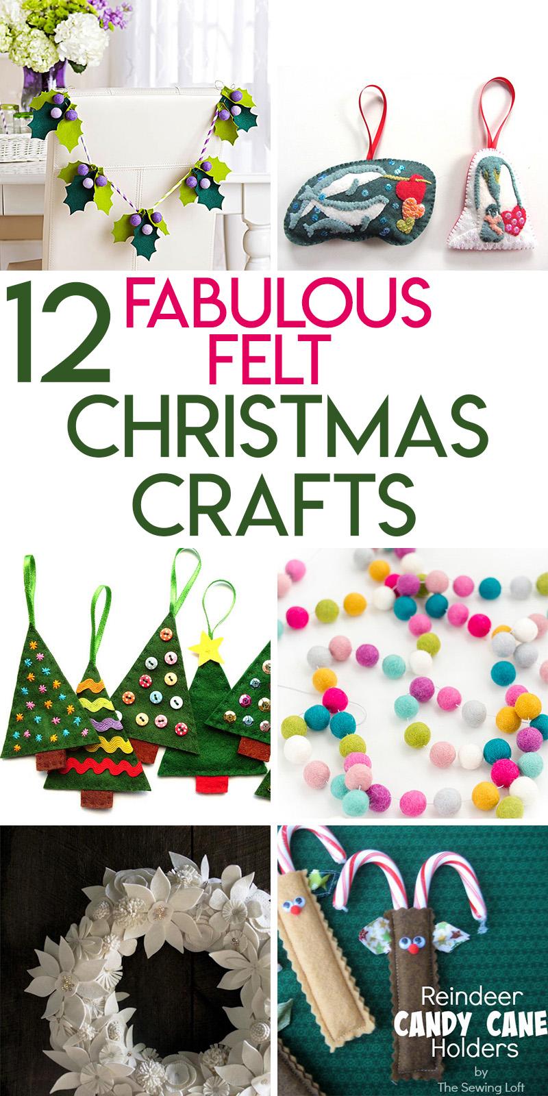 12 fabulous felt Christmas crafts