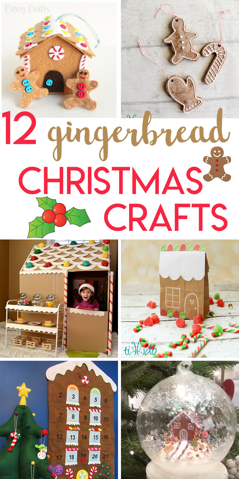 12 gingerbread themed crafts to make for Christmas