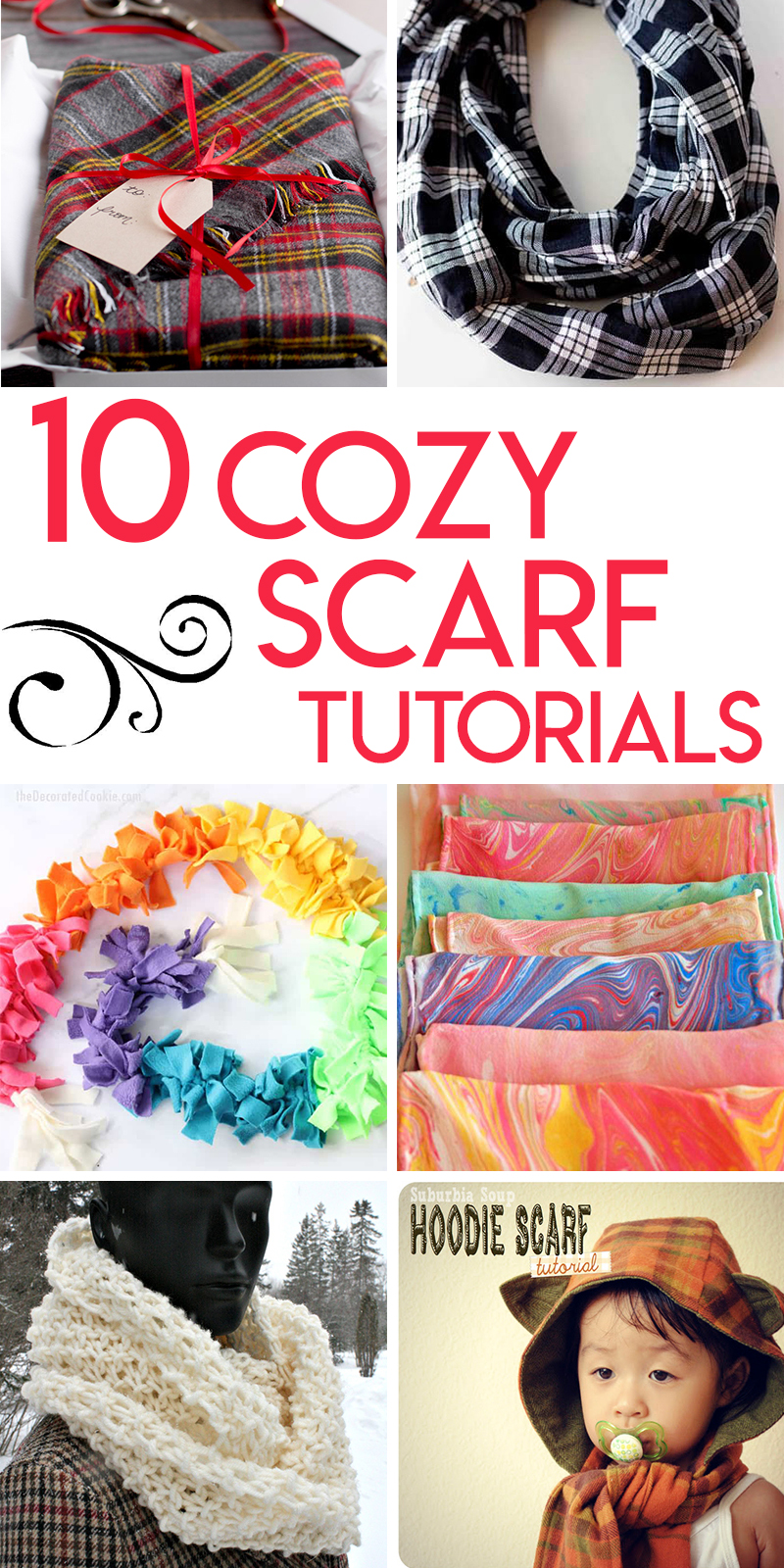 10 Cozy scarf tutorials to keep you warm this winter