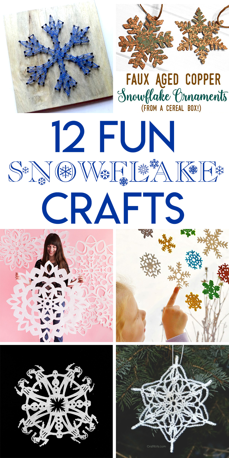 12 fun winter snowflake themed crafts for the holidays
