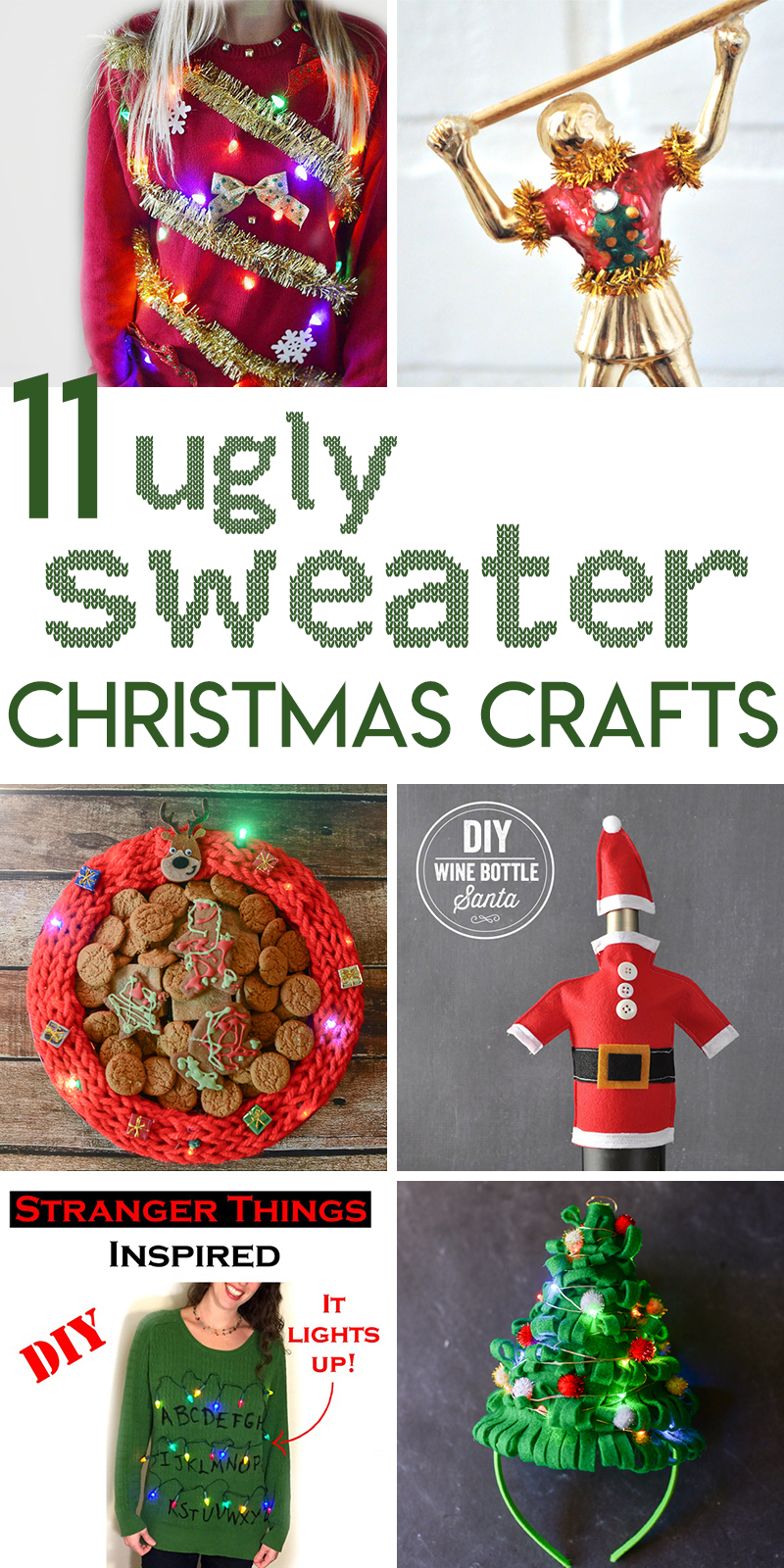 11 ugly sweater crafts to DIY for your Christmas party