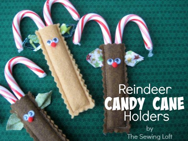 Felt reindeer candy cane holder tutorial