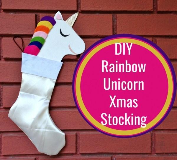 Unicorn Christmas stocking tutorial