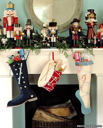 felt Nutcracker ballet inspired Christmas stockings tutorial
