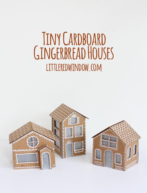 cardboard gingerbread house tutorial
