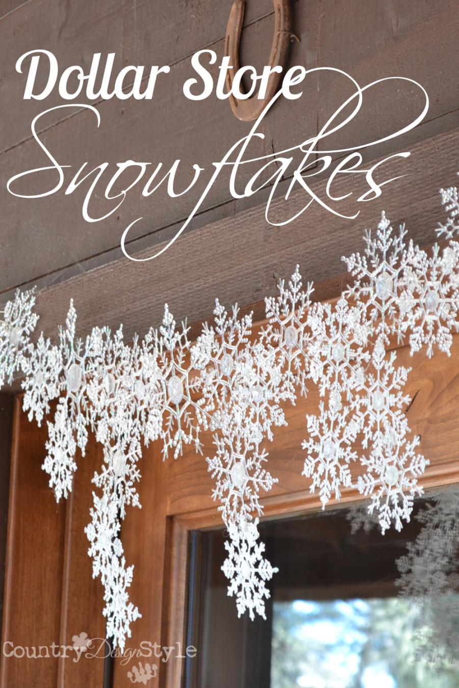 dollar store snowflake garland tutorial