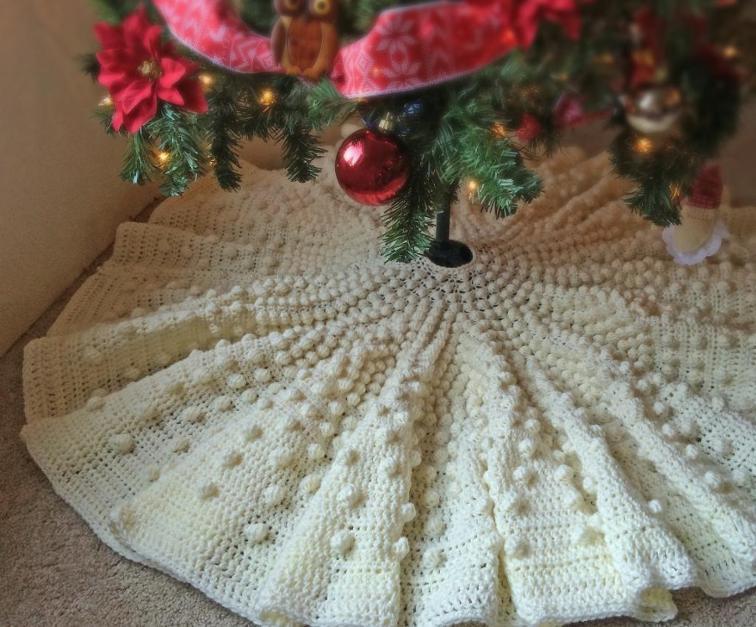 Diy Christmas Tree Skirt No Sew