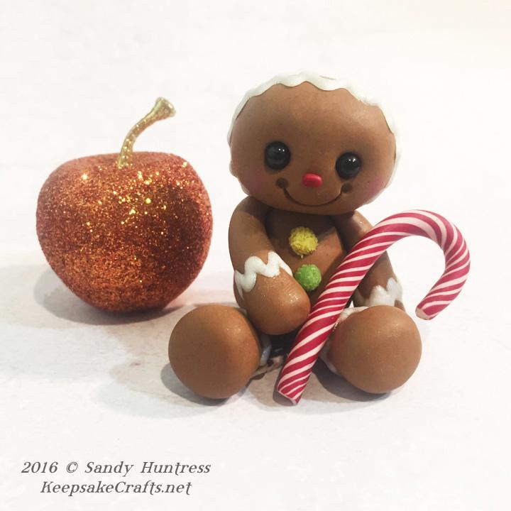 polymer clay gingerbread man sculpture tutorial