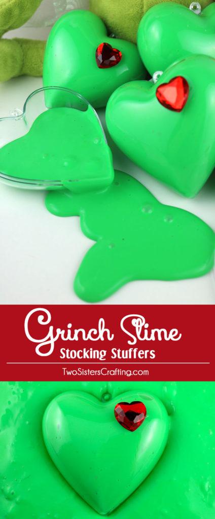 Grinch slime stocking stuffer tutorial