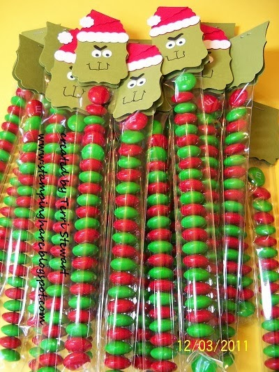 Grinch candy favors tutorial